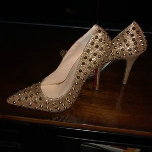 Shoes - Gold studded heels